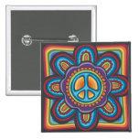 Hippie Peace Flower Pin