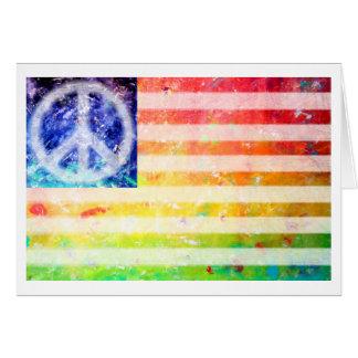 Hippie Peace Freak Flag Greeting Card