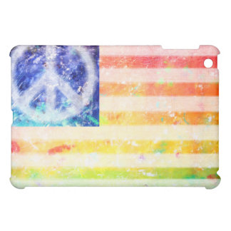 Hippie Peace Freak Flag iPad Mini Case