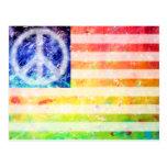 Hippie Peace Freak Flag Postcard