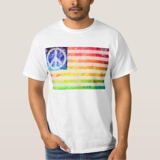 Hippie Peace Freak Flag T-shirt