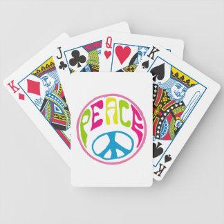 Hippie Peace Sign Card Deck
