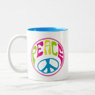 Hippie Peace Sign Coffee Mug