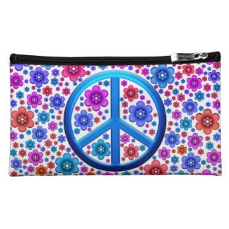 Hippie Peace Sign Cosmetic Bags