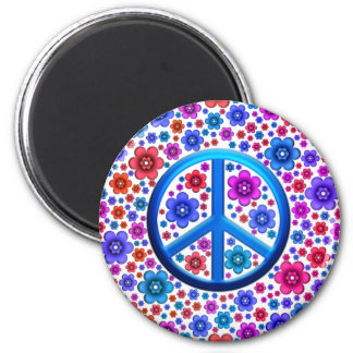 Hippie Peace Sign Magnet
