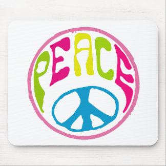 Hippie Peace Sign Mouse Pad