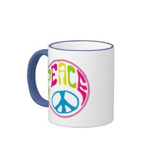 Hippie Peace Sign Mugs