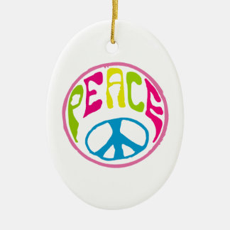 Hippie Peace Sign Ornaments