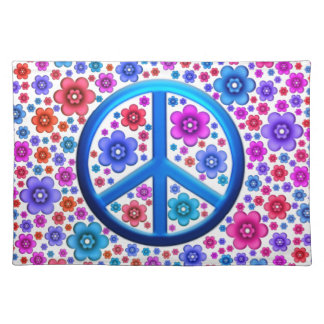 Hippie Peace Sign Placemat