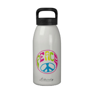 Hippie Peace Sign Reusable Water Bottles