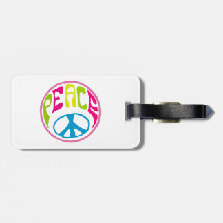 Hippie Peace Sign Travel Bag Tag