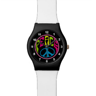 Hippie Peace Sign Watch