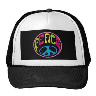 Hippie Peache Sign Trucker Hats