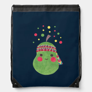Hippie Pear Drawstring Backpack