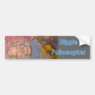 Hippie Philosopher Bumper Sticker