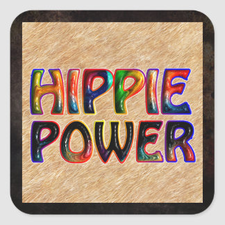 HIPPIE POWER SQUARE STICKER