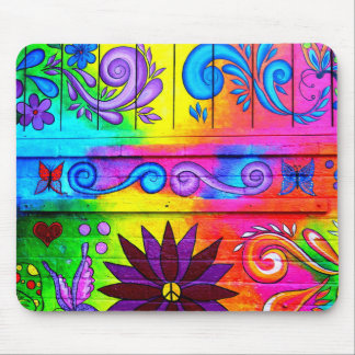 hippie psychedelic color mousepad