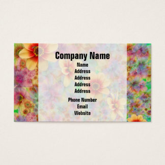 Hippie Psychedelic Flower Pattern Business Card