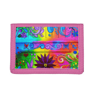 hippie psychedelic wallet
