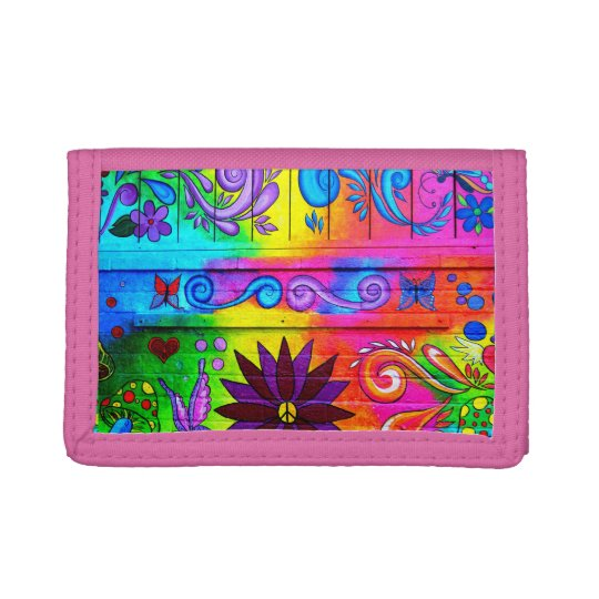 hippie psychedelic wallet