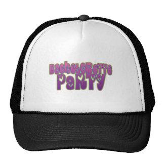 hippie purple heart bachelorette party fun trucker hat