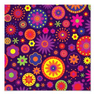 Hippie Purple Rainbow Flowers Photo