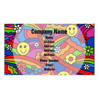 Hippie Rainbow Pattern Pack Of Standard Business Cards
