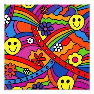Hippie Rainbow Pattern Photo Print