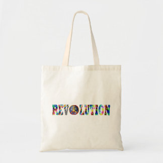 Hippie Revolution Tote Bags
