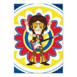 "Hippie Rock Star with Guitar 3.5"" X 5"" Invitation Card"