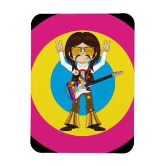 Hippie Rock Star with Guitar Magnet