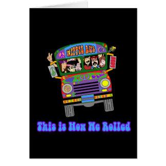 Hippie School Bus Card