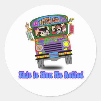 Hippie School Bus Sticker