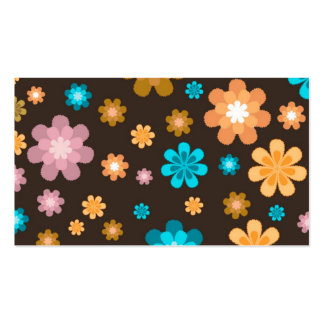 Hippie Style Floral Business Card