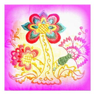 Hippie-style pink palm tree photo print