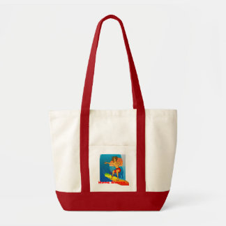 Hippie Surfer Tote Canvas Bags
