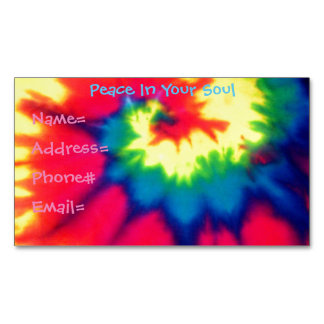 Hippie Tie Dye Magnet Business Card Magnetic Business Cards