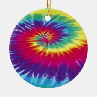 Hippie tie dye tee christmas ornament