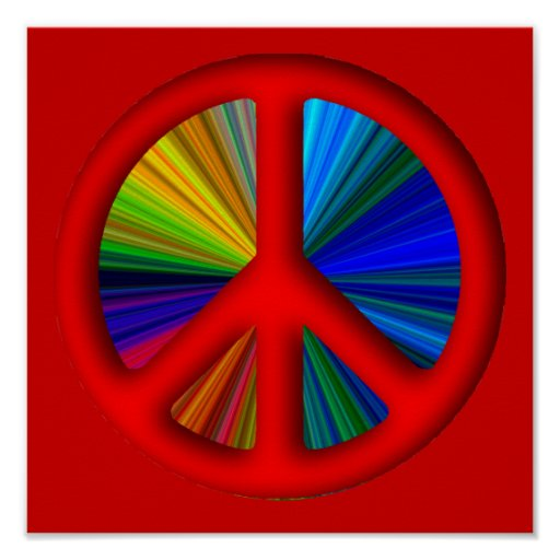 Hippie Trippy Peace Sign Print