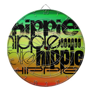 Hippie; Vibrant Green, Orange, & Yellow Dartboard