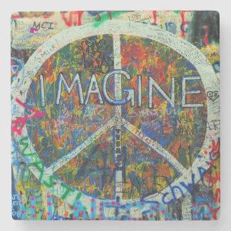 Hippie Wall Art Stone Coaster