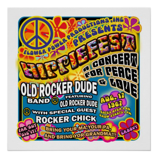 Hippiefest Concert Poster