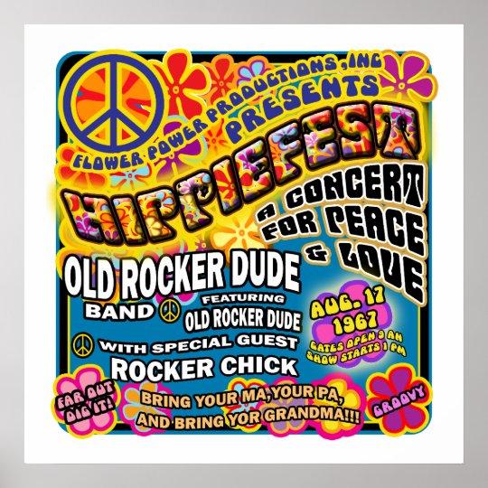 Hippiefest Concert Poster