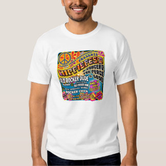 Hippiefest Concert Poster Tees