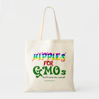 Hippies For GMOs Budget Tote Bag