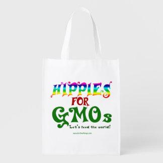 Hippies For GMOs Reusable Bag