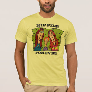Hippies Forever Art T-shirt For Women
