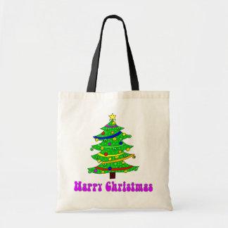 Hippie's Happy Christmas Tree Tote Bags