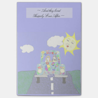 Hippies & Painted Car - Happily Ever After Post-it® Notes
