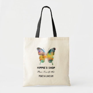 Hippie's Shop Promotional Value Butterfly Budget Tote Bag
